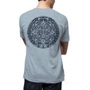 Camiseta Amazônia Calendário Maia - Mescla Azul