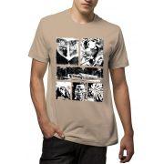 Camiseta Amazônia Cenas Floresta - Bege