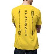 Camiseta Amazônia Flechas - Amarelo