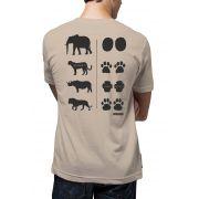 Camiseta Amazônia Foot Prints - Bege