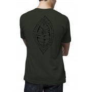 Camiseta Amazônia Fruto Semente - Verde Escuro