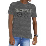Camiseta Amazônia Garrafa Pet Bike Respect - Preto