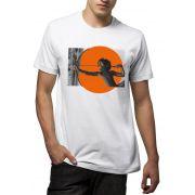 Camiseta Amazônia Índio Caçando - Branco