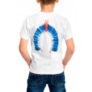 Camiseta Amazônia Infantil Cocar Indígena - Branco