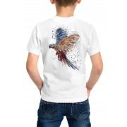 Camiseta Amazônia Infantil Cores da Arara - Branco