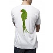 Camiseta Amazônia Leaf Bird - Branco