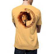 Camiseta Amazônia Leão Logo - Amarelo