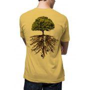Camiseta Amazônia Linhotex Árvore da Vida - Amarelo