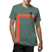 Camiseta Amazônia Listras Coqueiro - Cinza