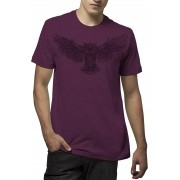 Camiseta Amazônia Owl Draw - Mescla Vinho
