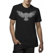 Camiseta Amazônia Owl Draw - Preto