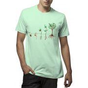Camiseta Amazônia Plante uma Semente - Verde Claro