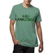 Camiseta Amazônia S.O.S Amazônia - Verde
