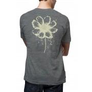Camiseta Amazônia Tinta Flor - Mescla Escuro