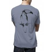 Camiseta Amazônia Tucano Desenho - Azul