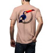 Camiseta Amazônia Tucano - Salmão