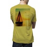 Camiseta Amazônia Veleiro - Amarelo Mescla