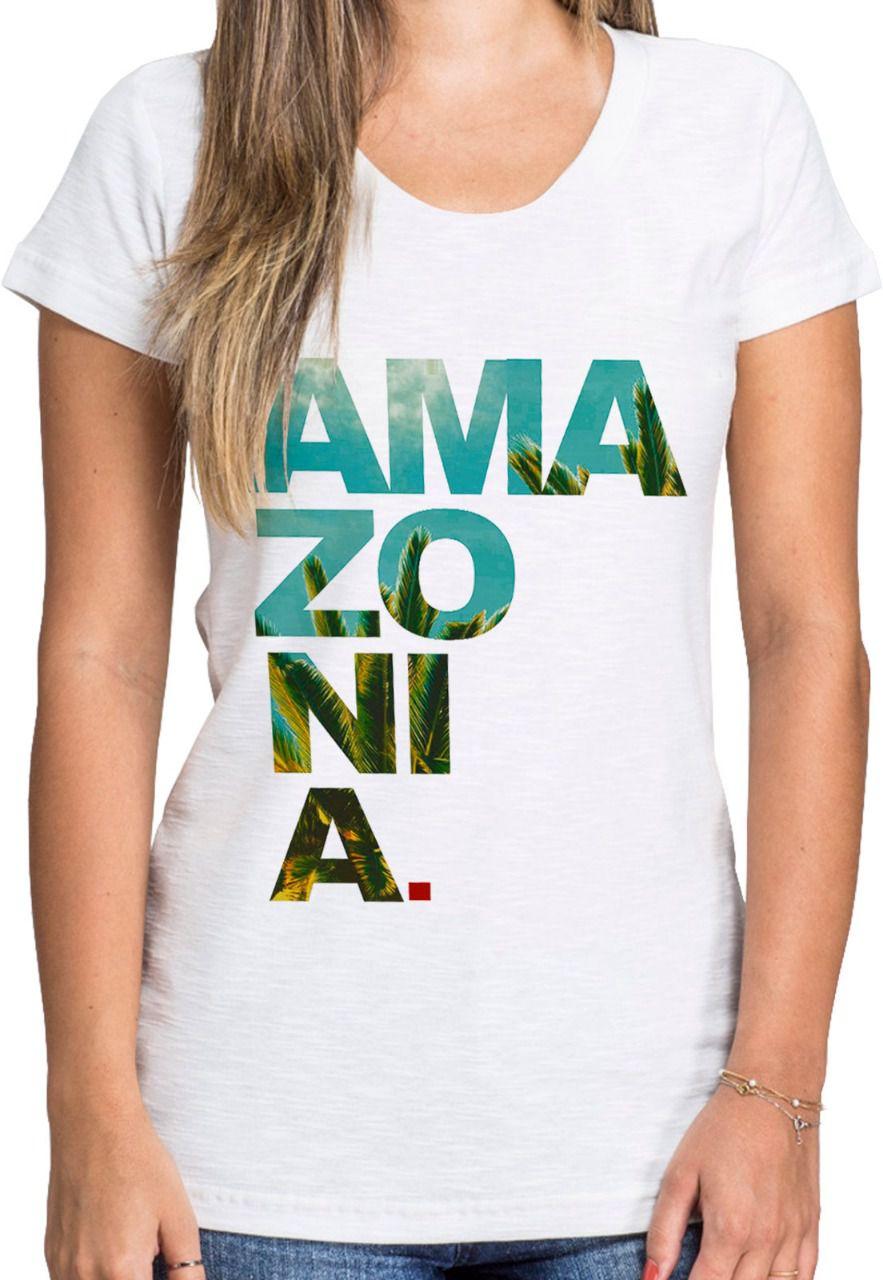 Baby Look Amazônia Ama zo ni a - Branco