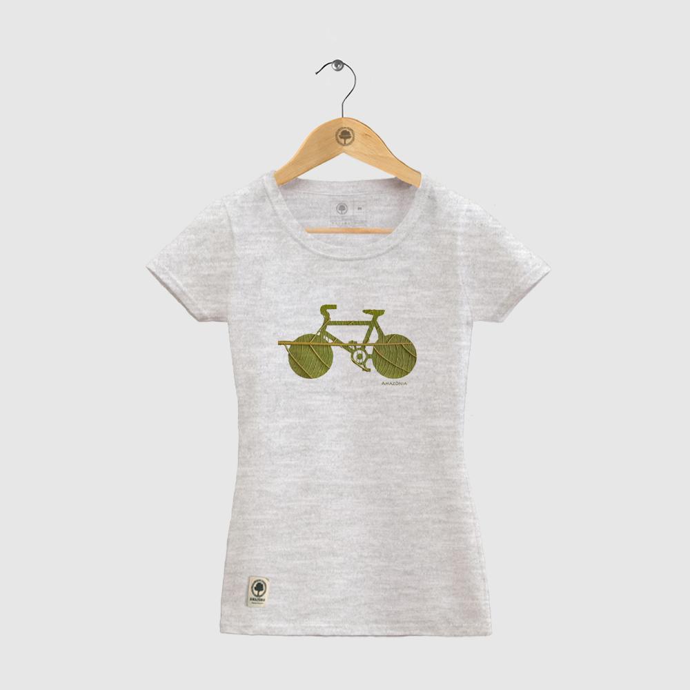 Baby Look Amazônia Bike Folha - Mescla