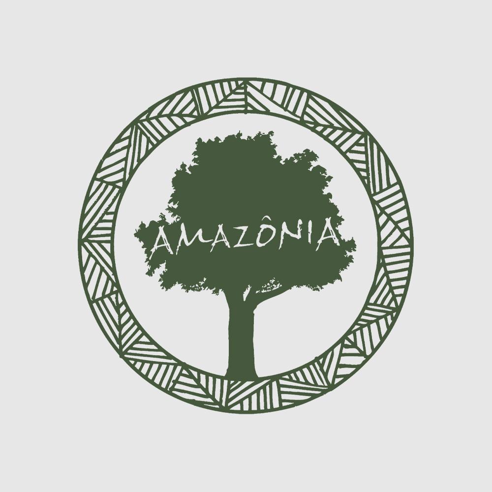 Baby Look Amazônia Logo Oficial - Branco