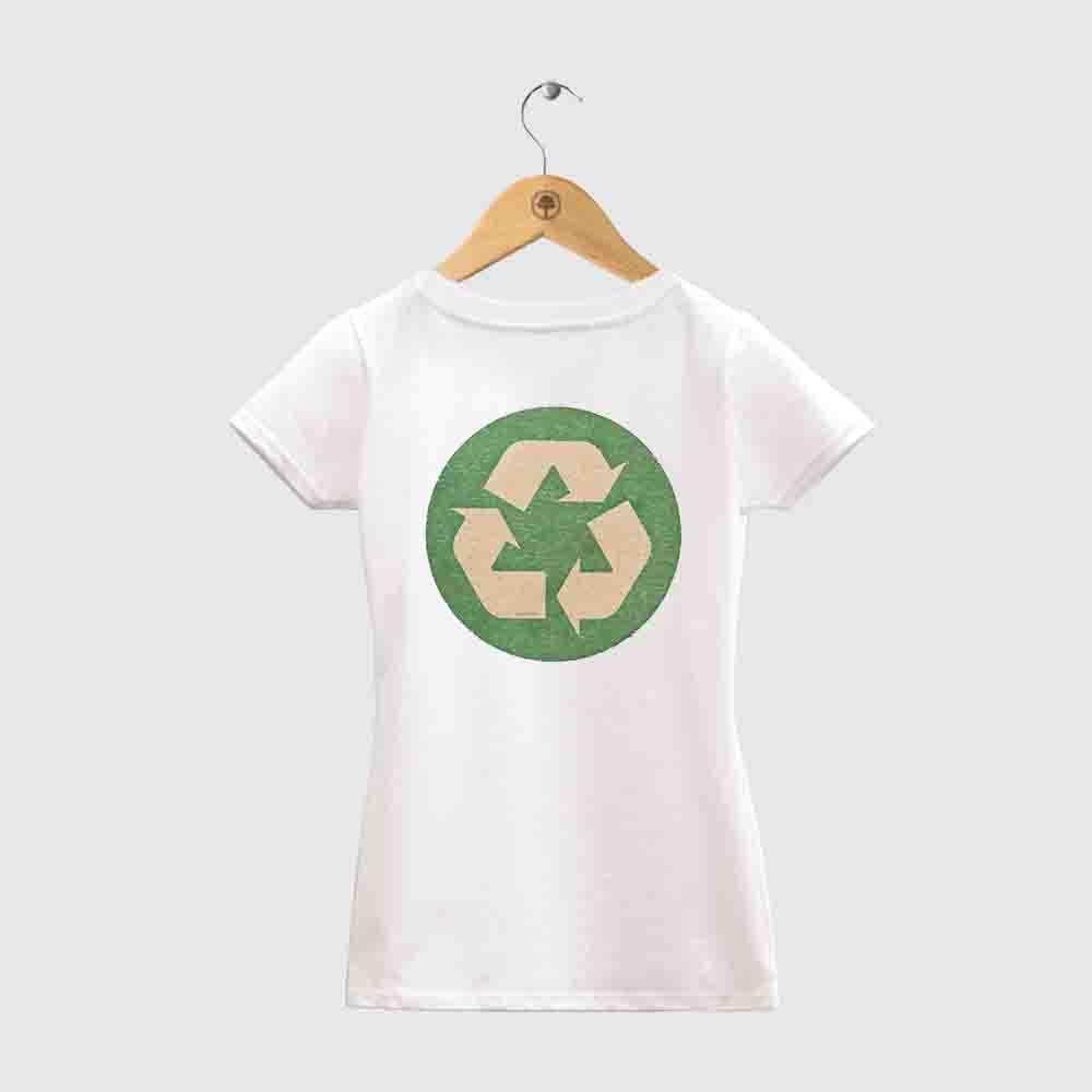 Baby Look Amazônia Reciclável - Branco