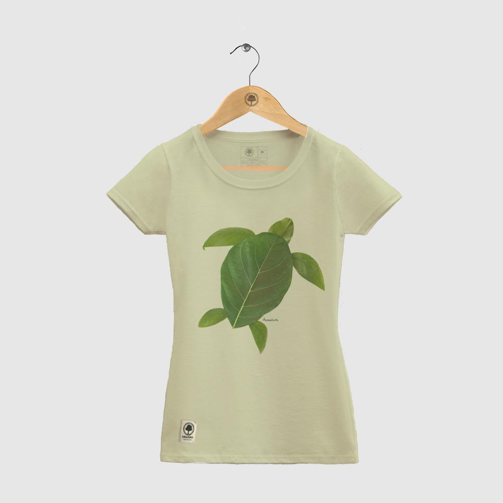Baby Look Amazônia Tartaruga Folha - Verde