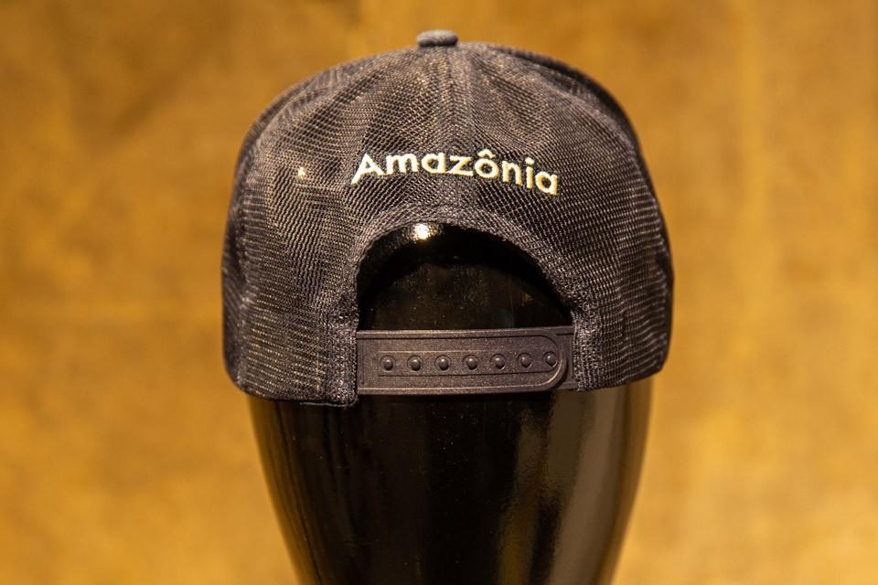 Boné Amazônia 0007 - TRUCKER C/ TELA MARINHO - JEANS BLUE - Azul