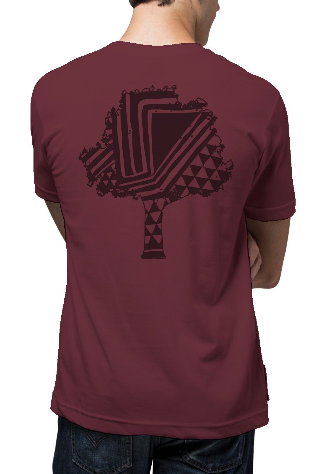 Camiseta Amazônia África Árvore - Vinho