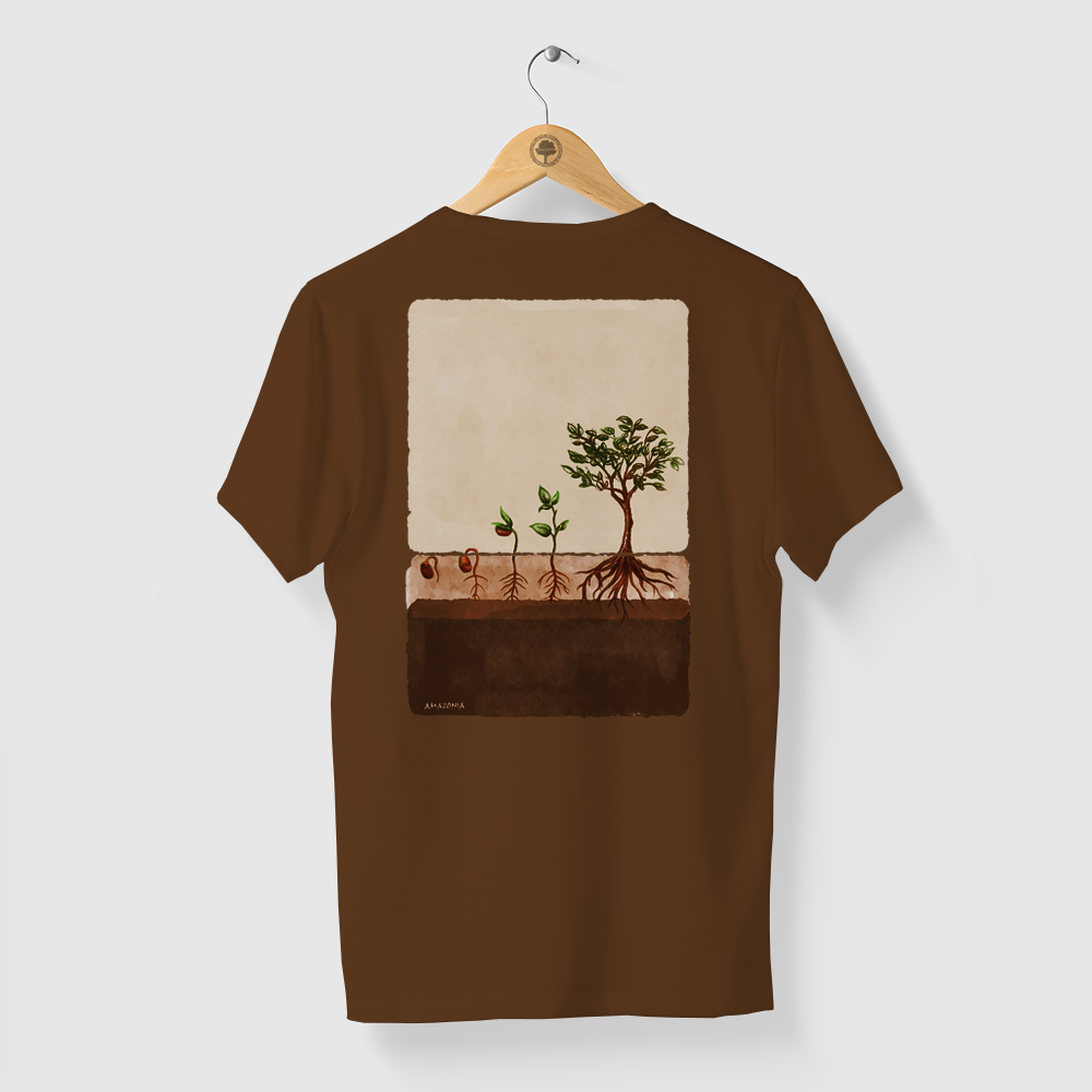 Camiseta Amazônia AGROFLORESTA - MARROM