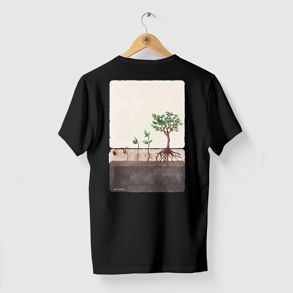 Camiseta Amazônia AGROFLORESTA - PRETO