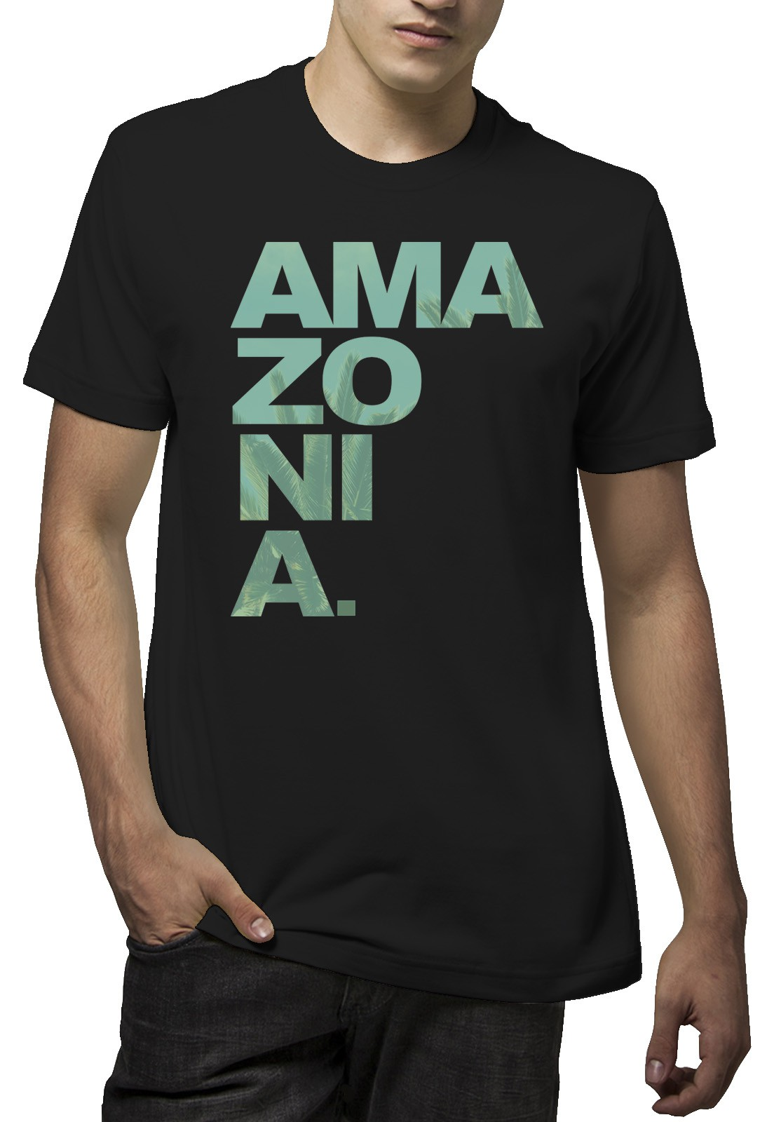 Camiseta Amazônia Ama zo ni a - Preto