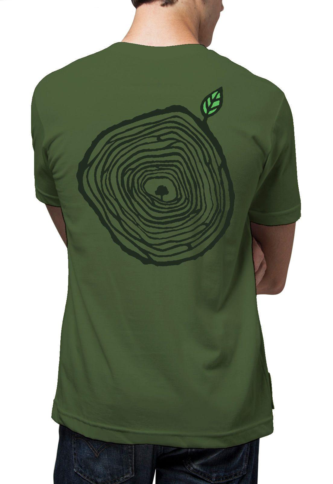 Camiseta Amazônia Anéis de Crescimento - Verde
