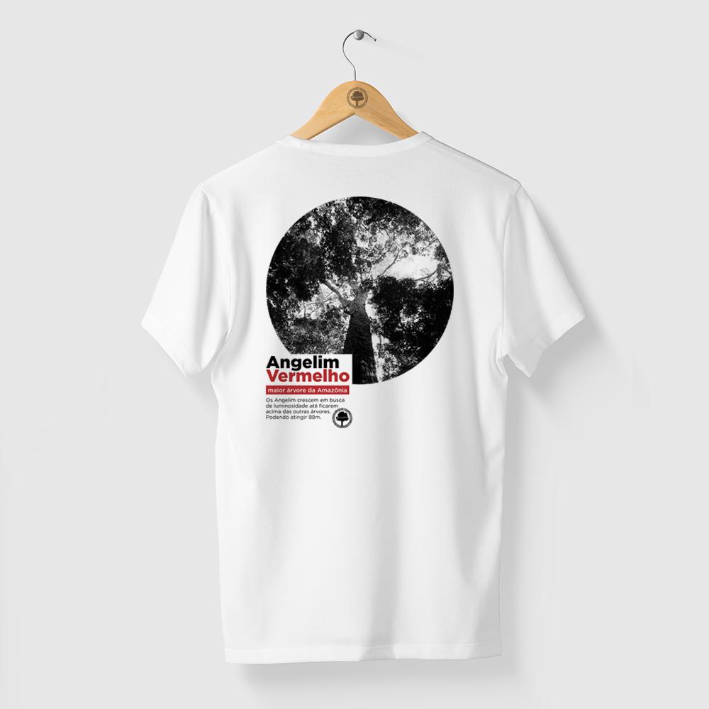 Camiseta Amazônia Angelim Vermelho - Branco