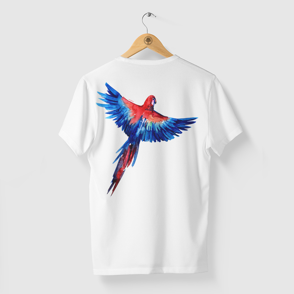 Camiseta Amazônia ARARA LIVRE - BRANCO