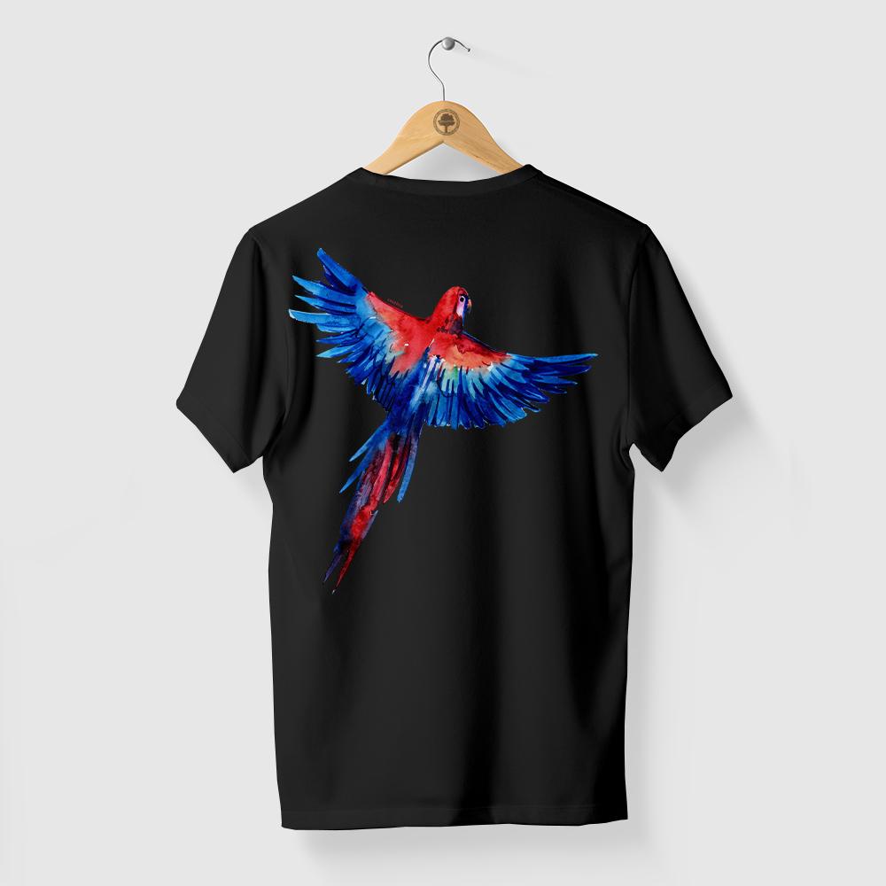 Camiseta Amazônia ARARA LIVRE - PRETO