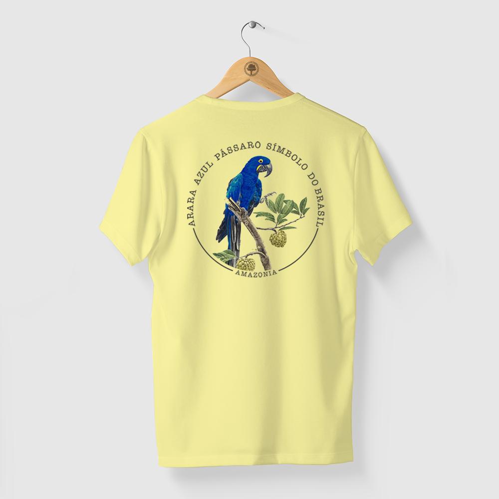 Camiseta Amazônia Arara Símbolo - Amarelo
