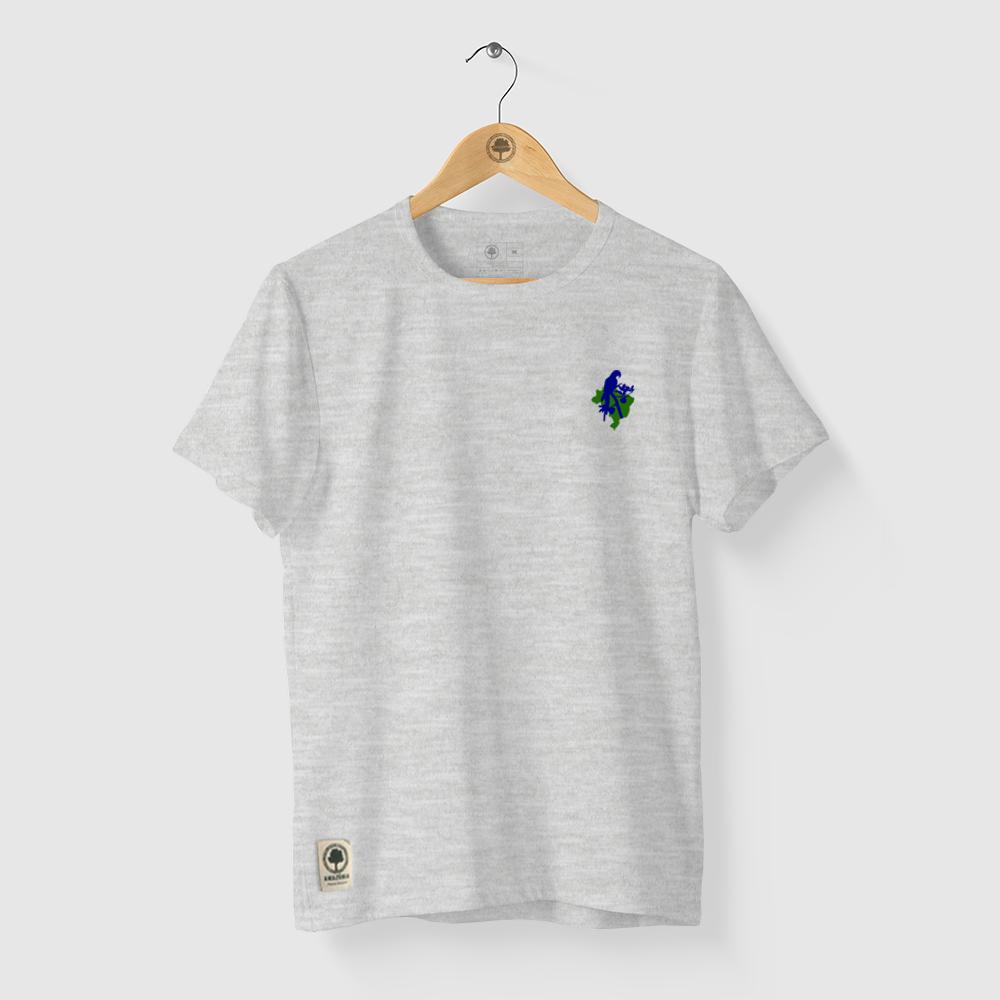 Camiseta Amazônia Arara Símbolo - Mescla Claro