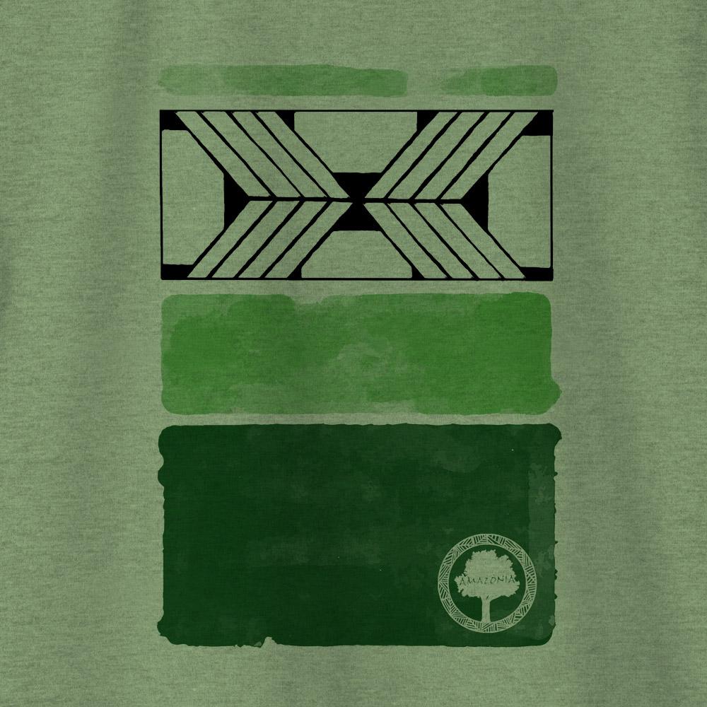 Camiseta Amazônia ARTE GRAFISMO - MESCLA VERDE
