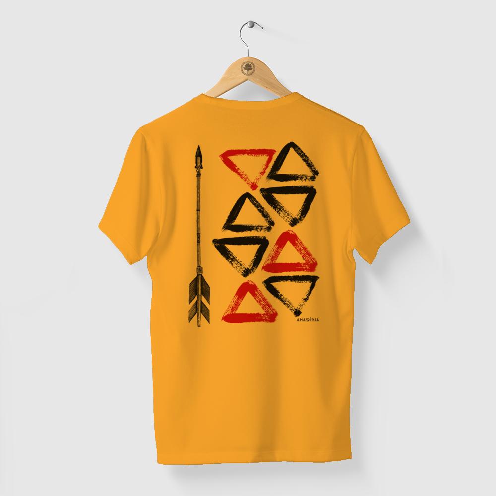 Camiseta Amazônia ARTE INDÍGENA - SALMÃO