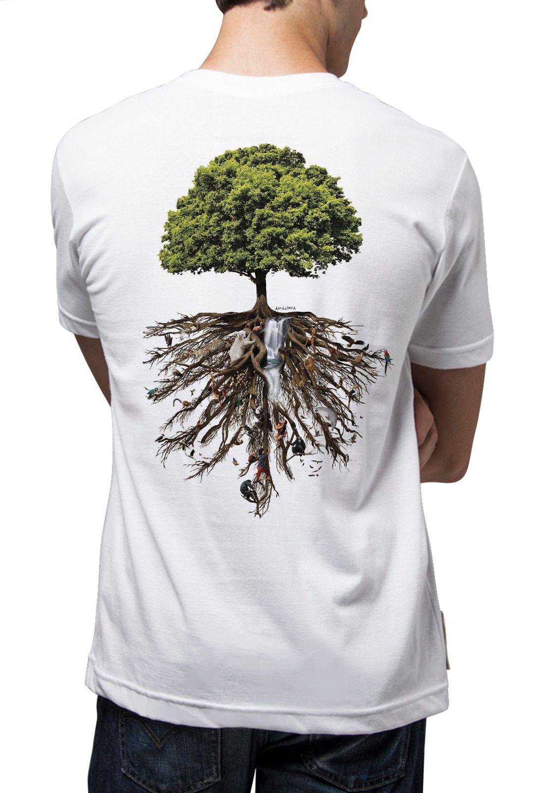 Camiseta Amazônia Árvore da Vida - Branco