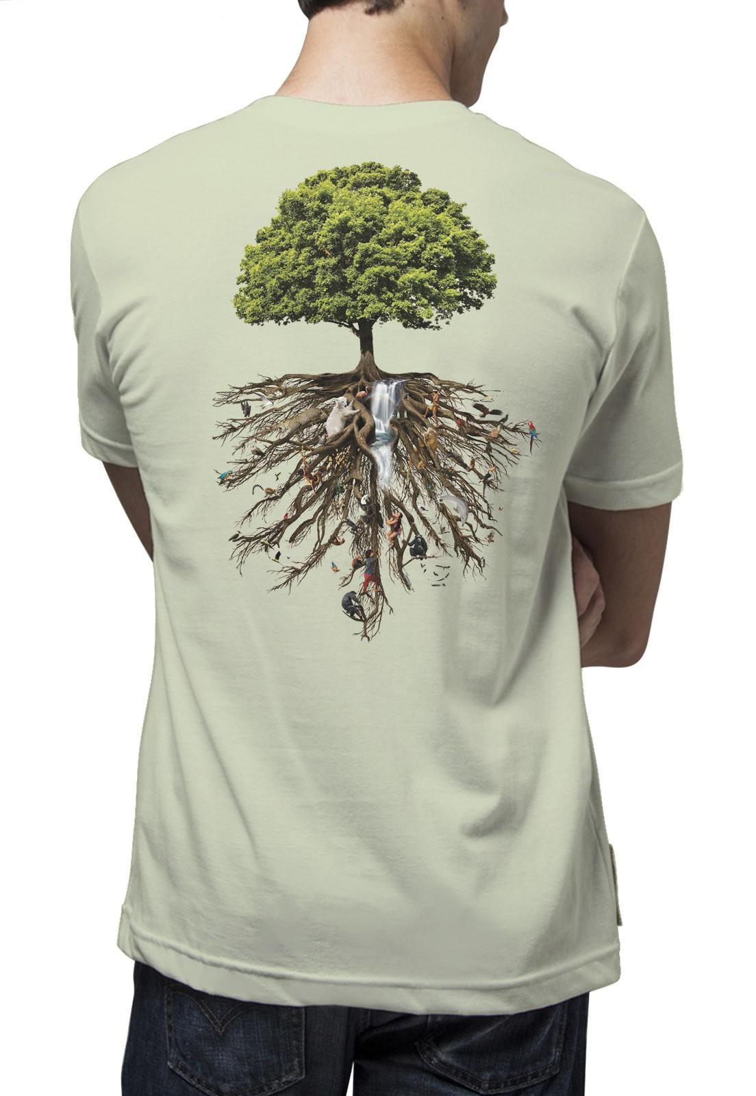 Camiseta Amazônia Árvore da Vida - Verde/Claro