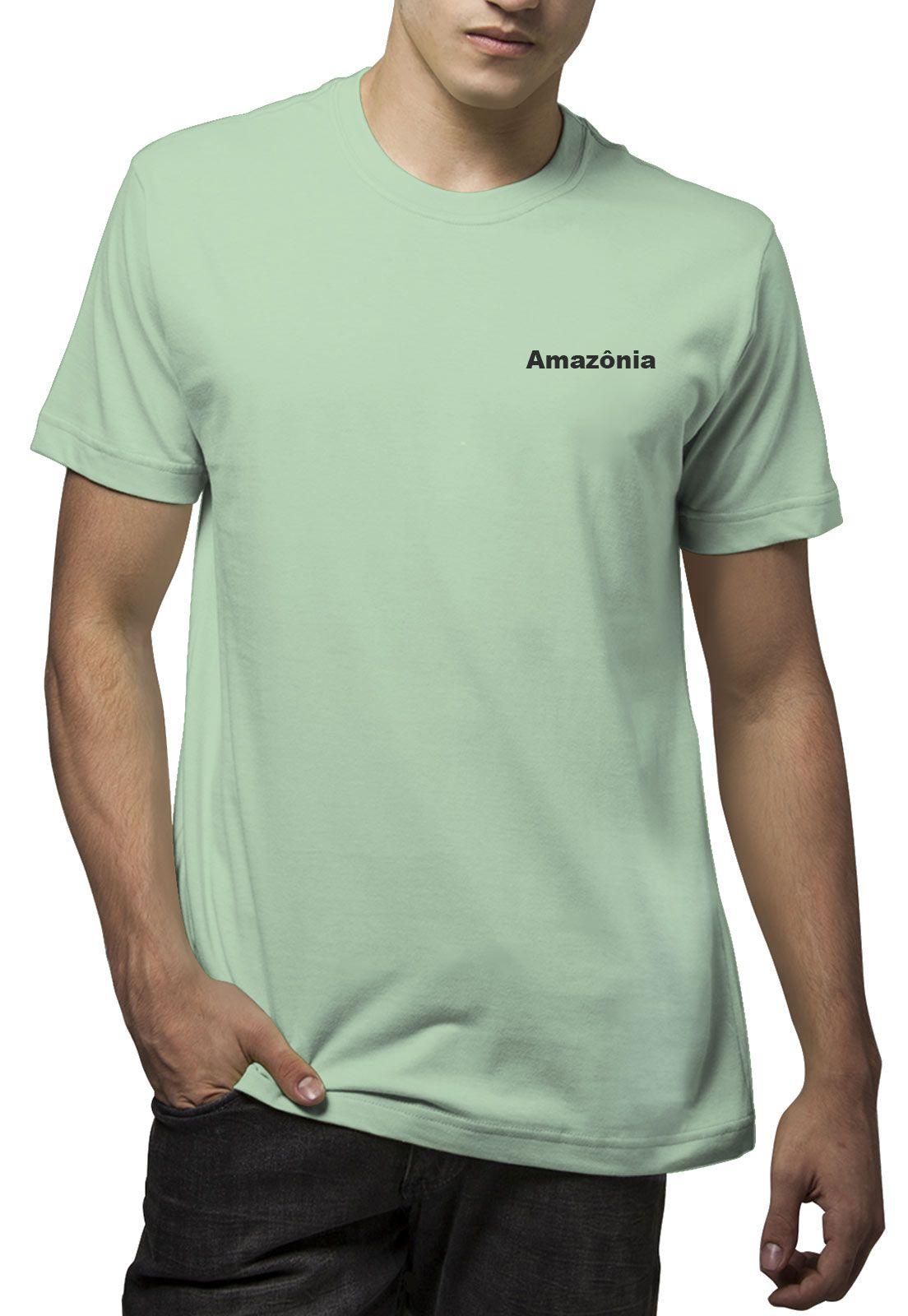 Camiseta Amazônia Árvore Feito a Mão - Verde