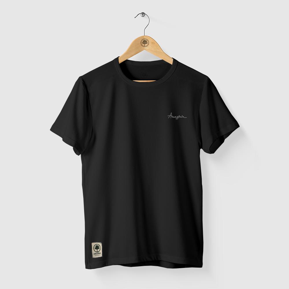 Camiseta Amazônia Árvore Rabiscada - Preto