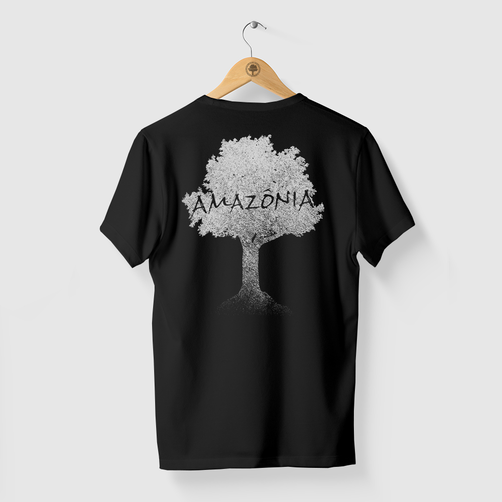 Camiseta Amazônia ÁRVORE TERRA - PRETO