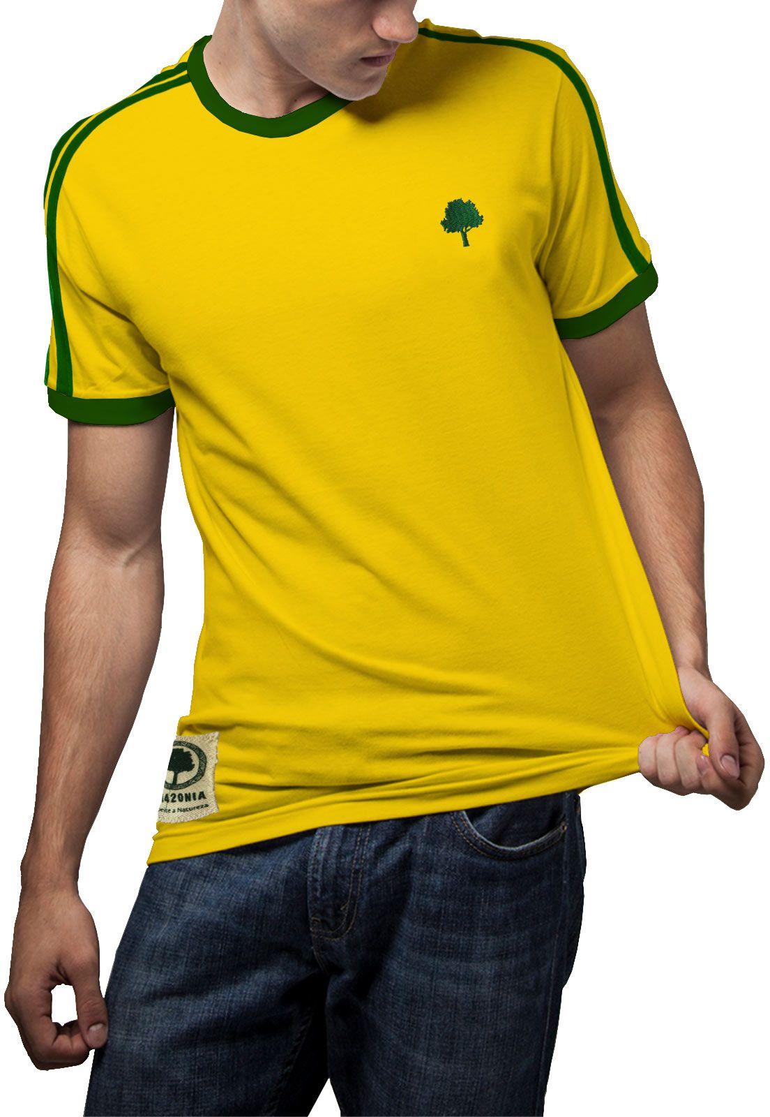 Camiseta Amazônia Amazônia Brasil - Amarelo