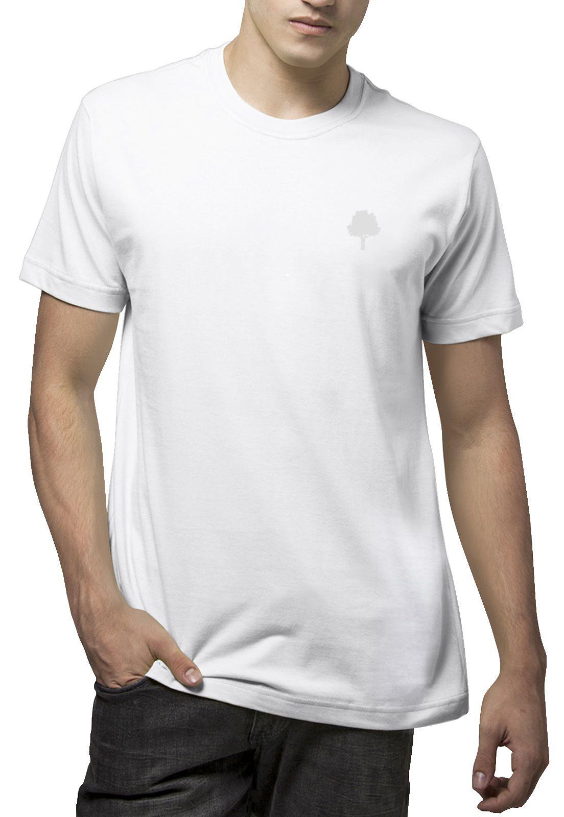 Camiseta Amazônia Básica Árvore Bordada - Branco