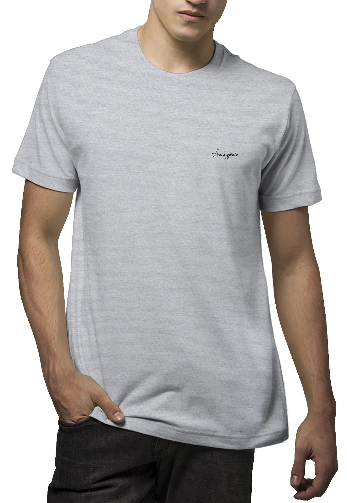 Camiseta Amazônia Beija Flor - Mescla Claro