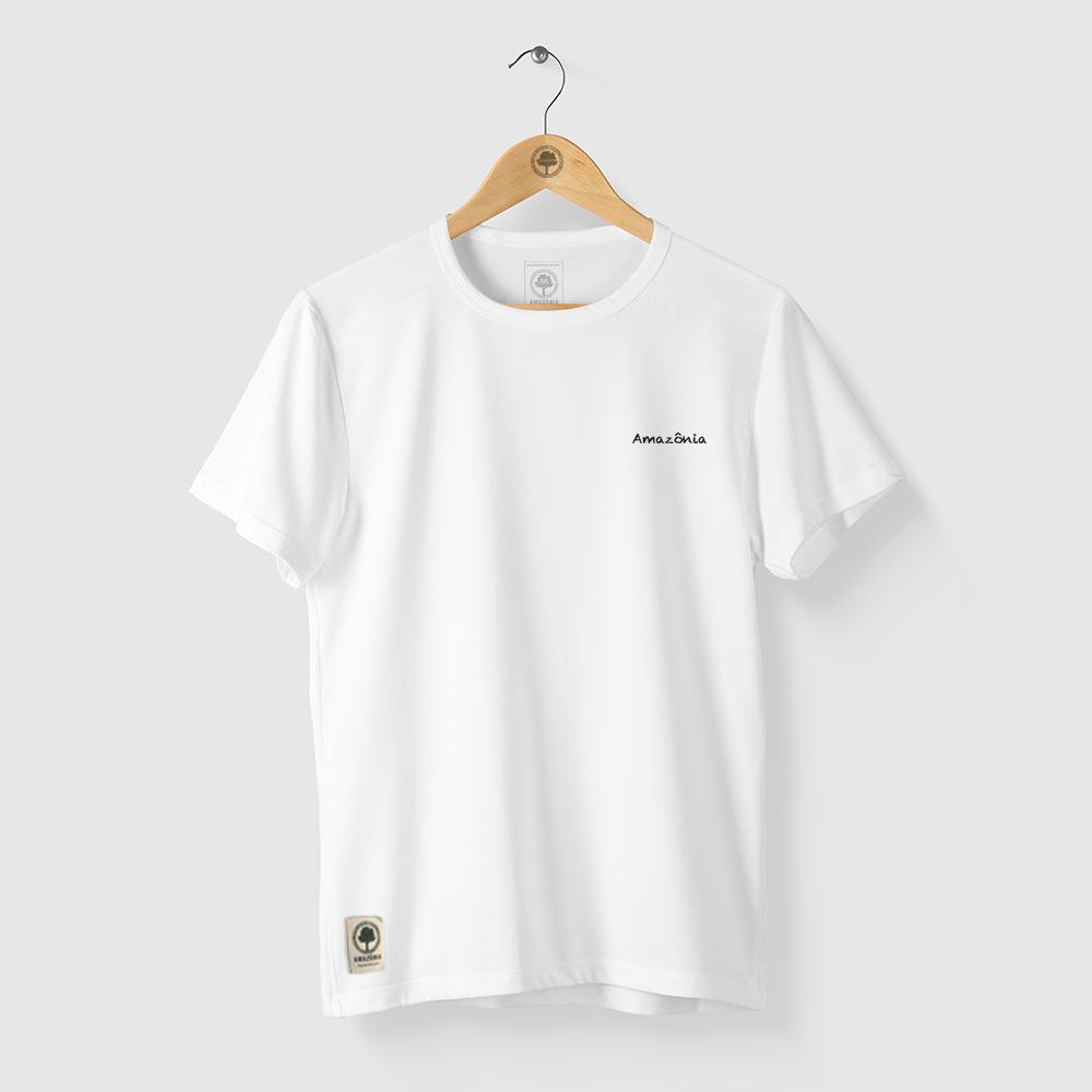 Camiseta Amazônia Beleza Indígena - Branco