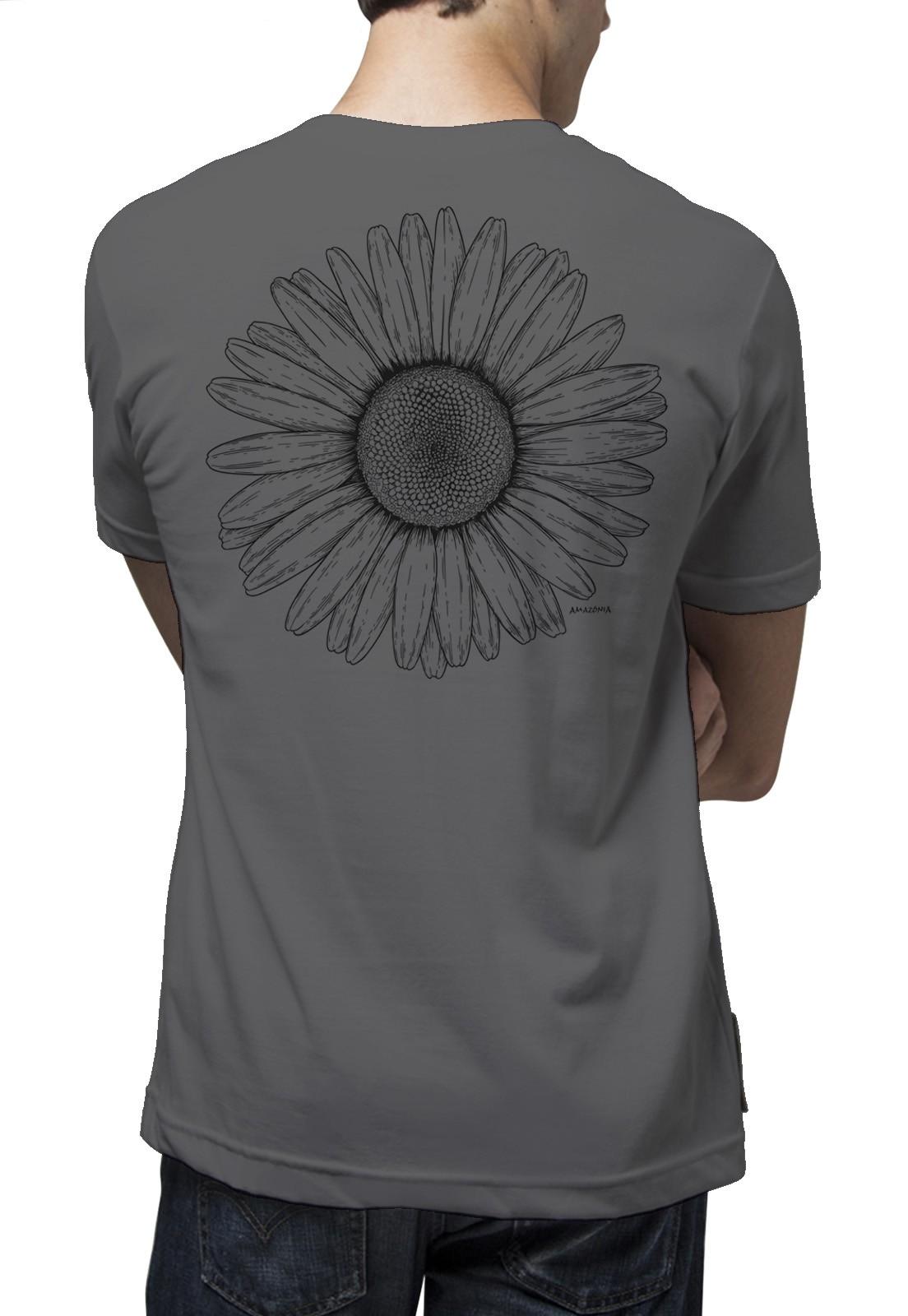 Camiseta Amazônia Bem-me-quer - Cinza