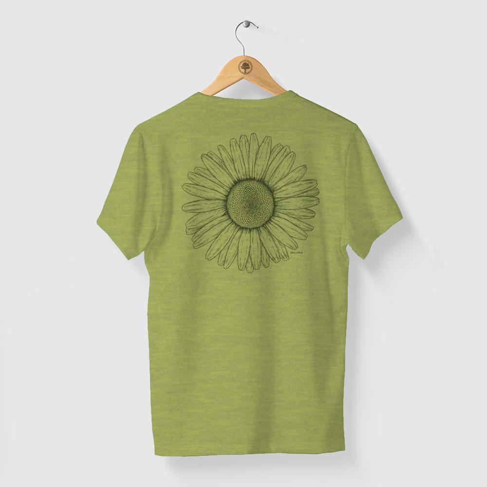 Camiseta Amazônia Bem me Quer - Mescla Amarelo